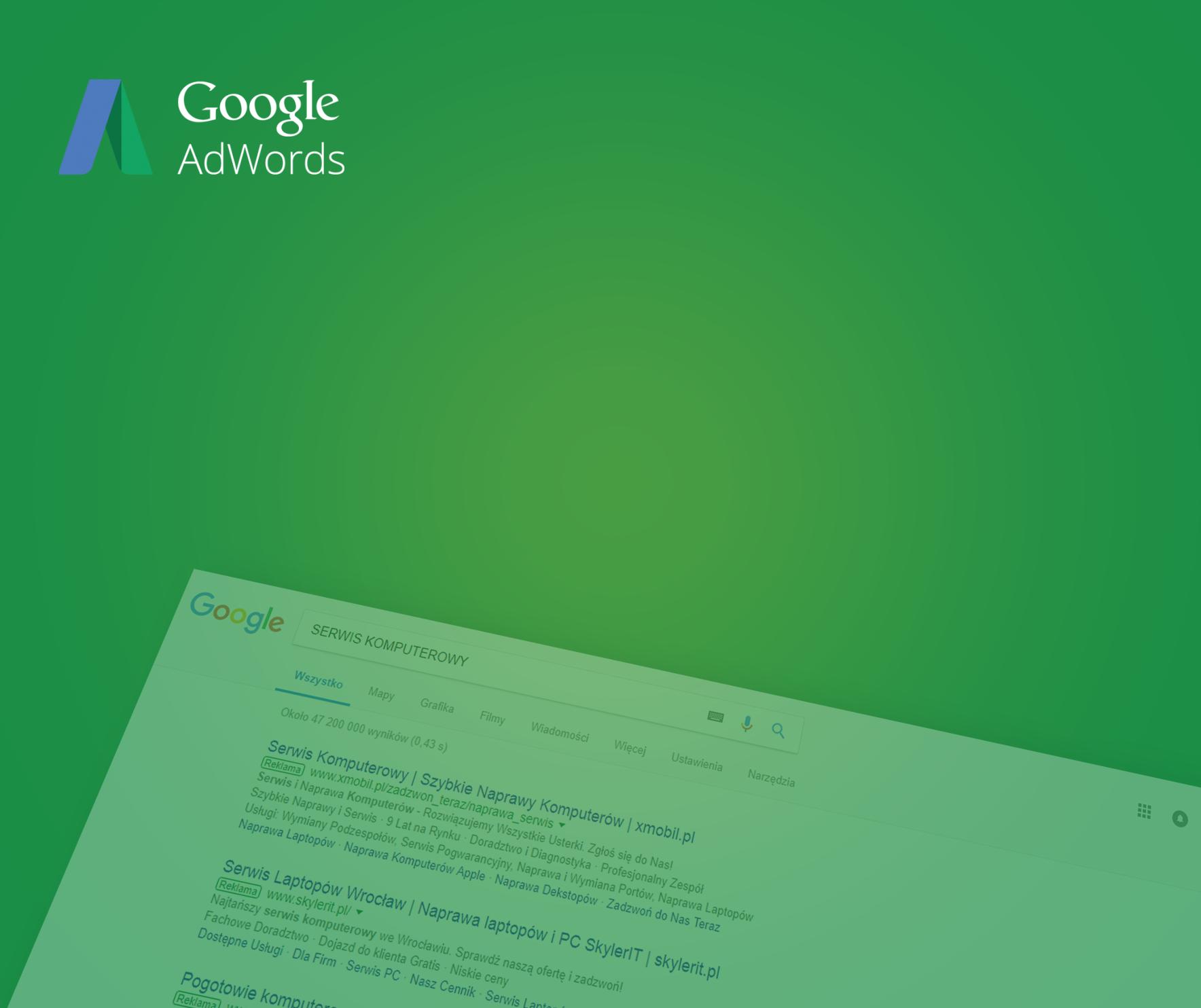 Rozszerzone reklamy AdWords