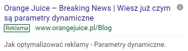 dynamiczne parametry